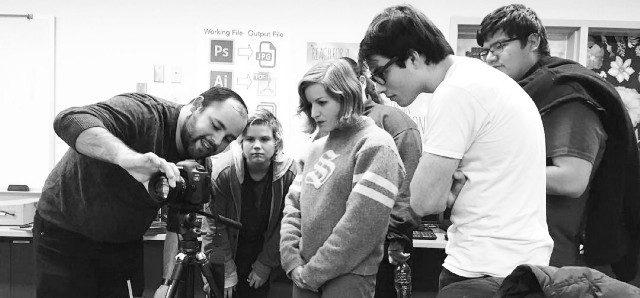 Teaching-cinematography-New-Tech-High